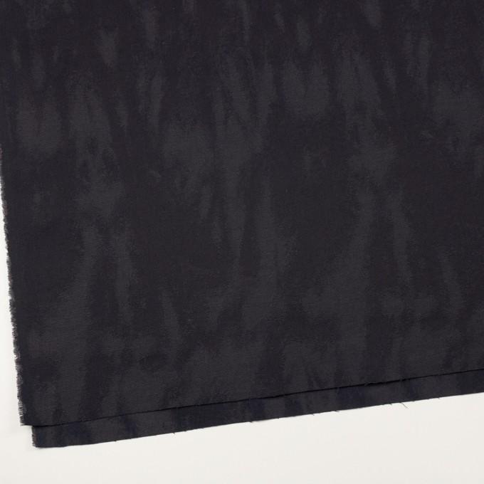 コットン&ポリウレタン×幾何学模様(ダークグレープグレー)×ジャガード・ストレッチ イメージ2
