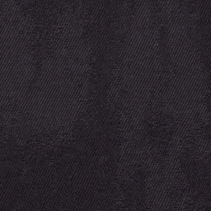 コットン&ポリウレタン×幾何学模様(ダークグレープグレー)×ジャガード・ストレッチ イメージ1