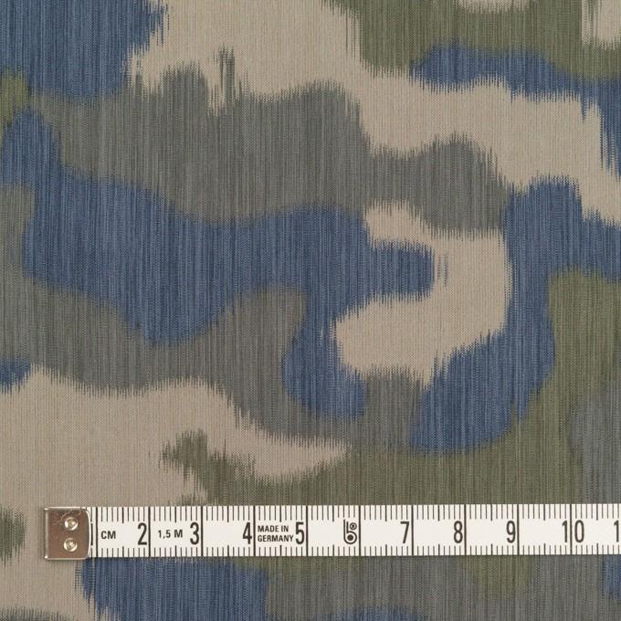 ポリエステル×迷彩(カーキグリーン&ブルー)×形状記憶タフタ イメージ4