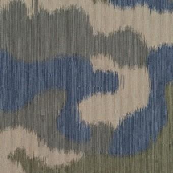 ポリエステル×迷彩(カーキグリーン&ブルー)×形状記憶タフタ サムネイル1