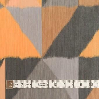 ポリエステル×幾何学模様(オレンジ&グレー)×形状記憶タフタ_全2色 サムネイル4