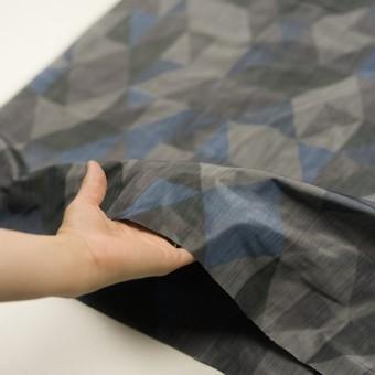 ポリエステル×幾何学模様(グレー&ブルー)×形状記憶タフタ_全2色 サムネイル5
