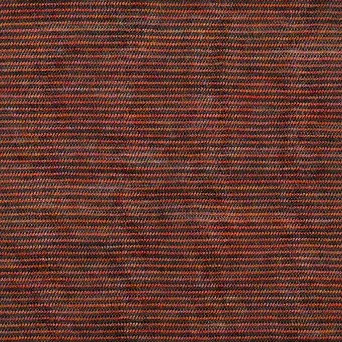ウール&ナイロン×ボーダー(セピア)×天竺ニット イメージ1