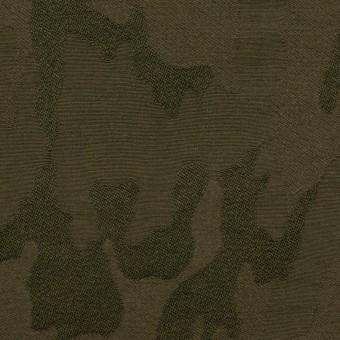 コットン&ポリエステル混×迷彩(カーキグリーン)×ジャガード・ストレッチ