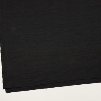 コットン&シルク混×無地(ブラック)×シャンタン サムネイル2