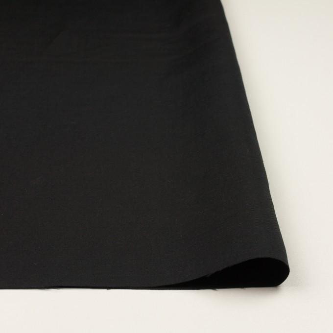 コットン&シルク混×無地(ブラック)×シャンタン イメージ3