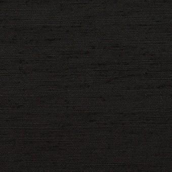 コットン&シルク混×無地(ブラック)×シャンタン