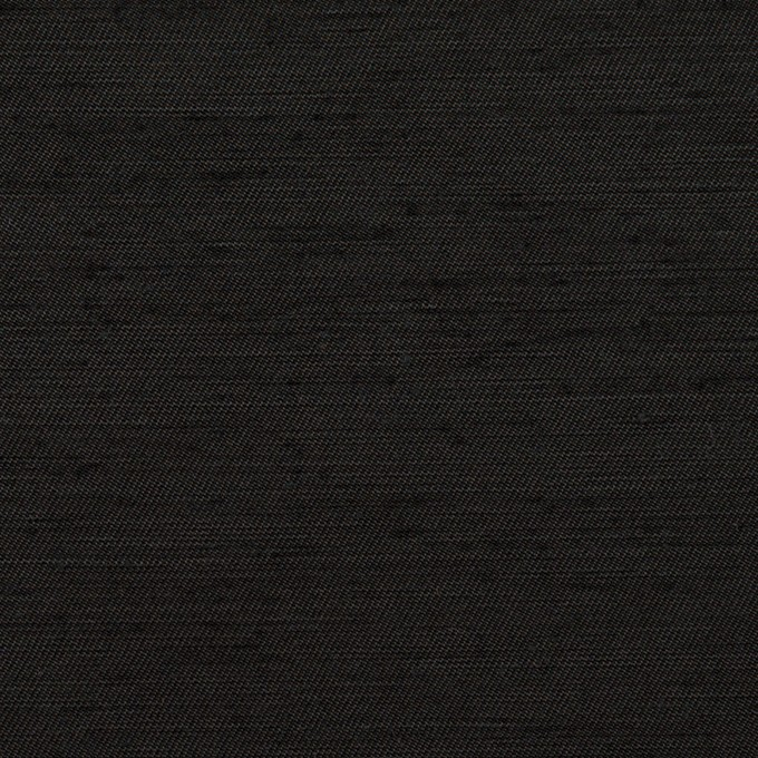 コットン&シルク混×無地(ブラック)×シャンタン イメージ1