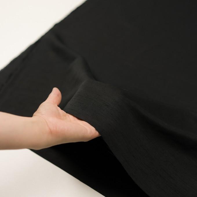 コットン&シルク混×無地(ブラック)×シャンタン イメージ5