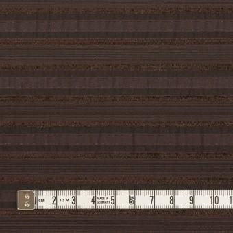 コットン&ナイロン混×ボーダー(ブラウン)×ジャガード・ストレッチ サムネイル4