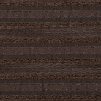 コットン&ナイロン混×ボーダー(ブラウン)×ジャガード・ストレッチ サムネイル1