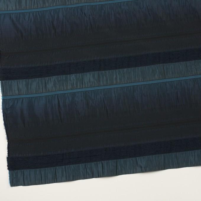 ポリエステル&ナイロン混×ボーダー(ブルー)×タフタジャガード イメージ2
