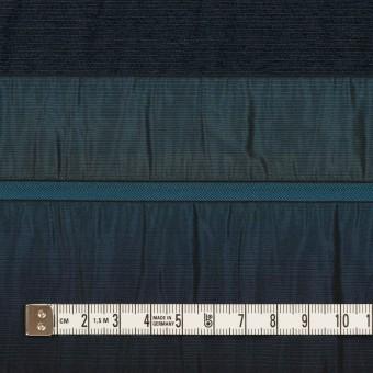 ポリエステル&ナイロン混×ボーダー(ブルー)×タフタジャガード サムネイル4