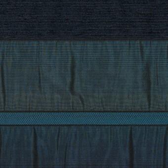 ポリエステル&ナイロン混×ボーダー(ブルー)×タフタジャガード