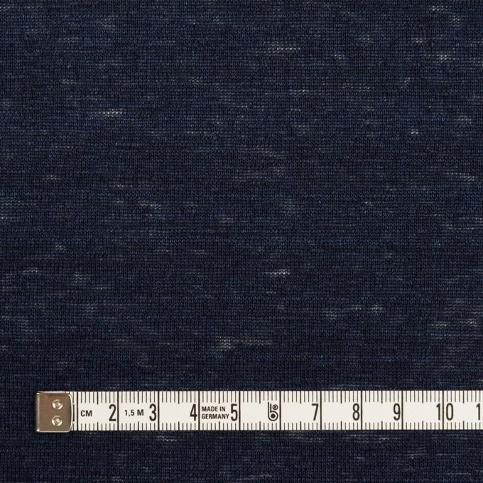 リネン×無地(ネイビー)×天竺ニット_全4色 イメージ4