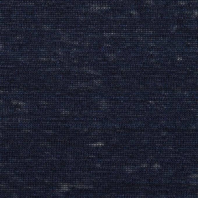 リネン×無地(ネイビー)×天竺ニット_全4色 イメージ1
