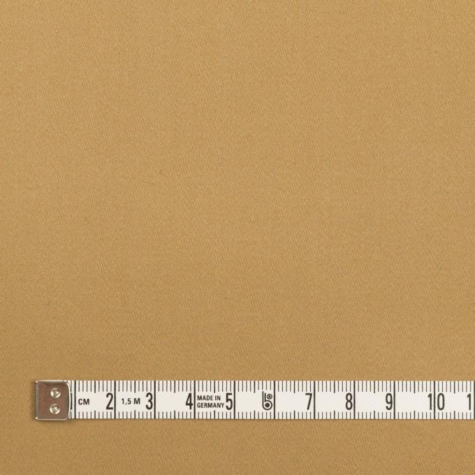 コットン&ポリエステル×無地(オークルベージュ)×サテンストレッチ イメージ4