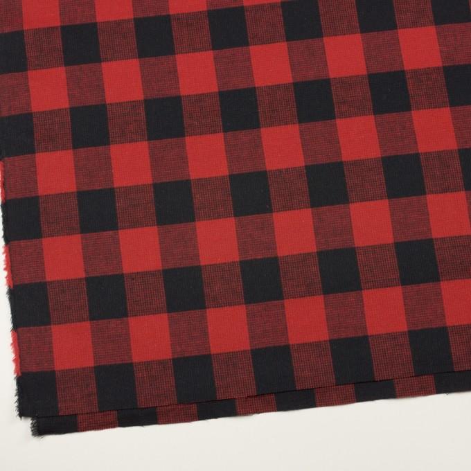 コットン×チェック(レッド)×蜂巣織_全3色 イメージ2