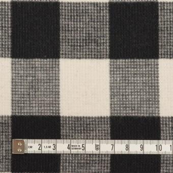 コットン×チェック(オフホワイト)×蜂巣織_全3色 サムネイル4