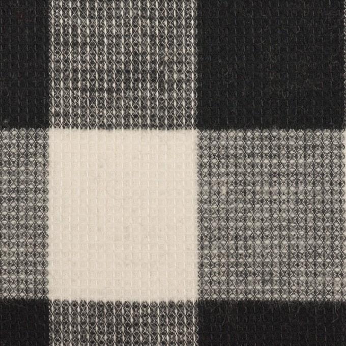 コットン×チェック(オフホワイト)×蜂巣織_全3色 イメージ1