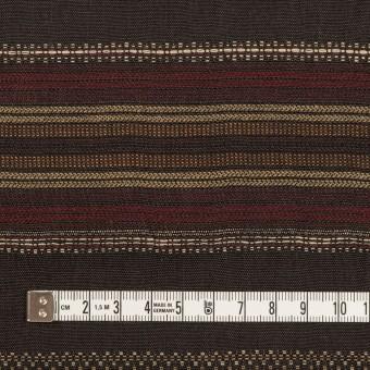 コットン&リネン混×ボーダー(ダークブラウン)×薄キャンバス・ジャガード_全2色 サムネイル4