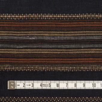 コットン&リネン混×ボーダー(ダークネイビー)×薄キャンバス・ジャガード_全2色 サムネイル4