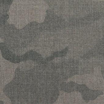 ポリエステル&レーヨン混×迷彩(グレー)×斜子織_全3色