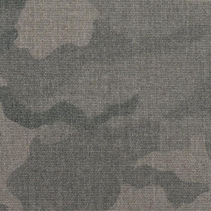 ポリエステル&レーヨン混×迷彩(グレー)×斜子織_全3色 イメージ1