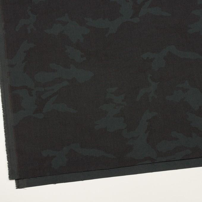 ポリエステル&レーヨン混×迷彩(チャコール)×斜子織_全3色 イメージ2