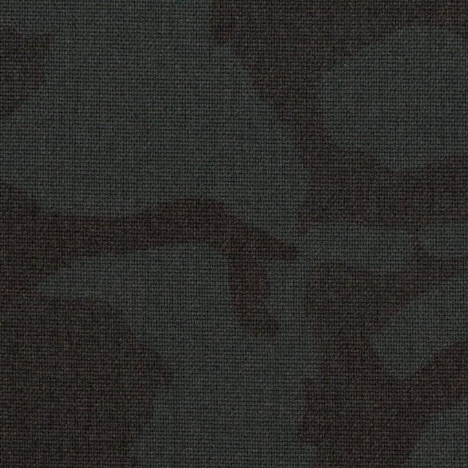 ポリエステル&レーヨン混×迷彩(チャコール)×斜子織_全3色 イメージ1