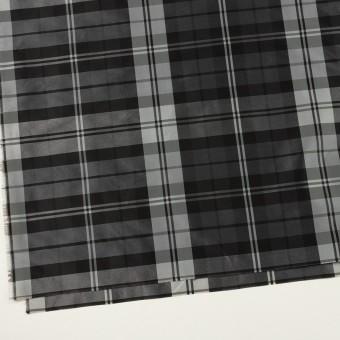 ナイロン&トリアセテート×チェック(シルバーグレー&ブラック)×形状記憶タフタ サムネイル2