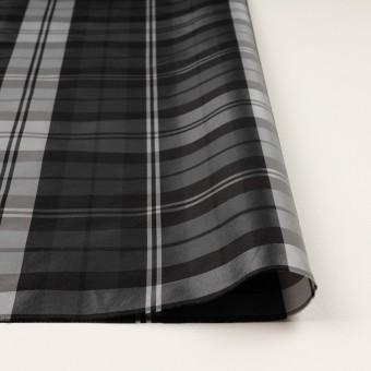 ナイロン&トリアセテート×チェック(シルバーグレー&ブラック)×形状記憶タフタ サムネイル3