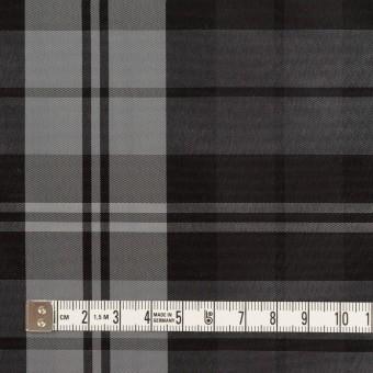 ナイロン&トリアセテート×チェック(シルバーグレー&ブラック)×形状記憶タフタ サムネイル4