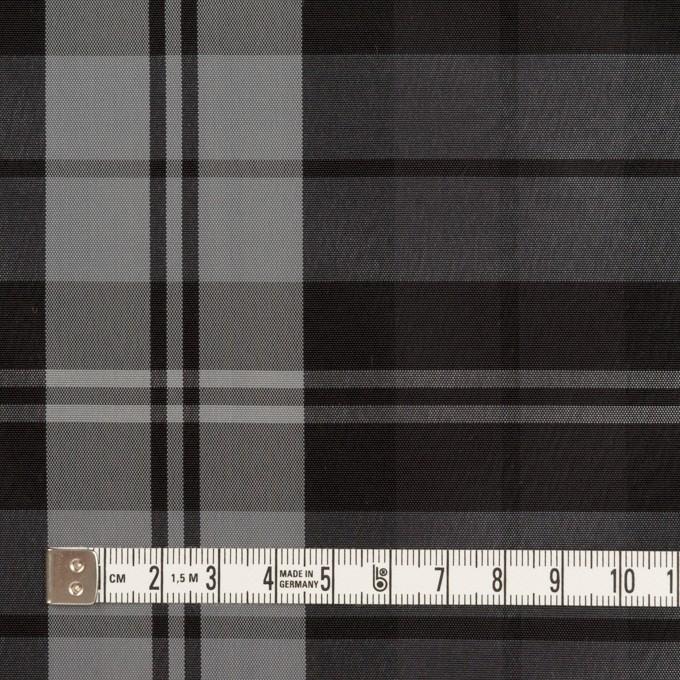 ナイロン&トリアセテート×チェック(シルバーグレー&ブラック)×形状記憶タフタ イメージ4
