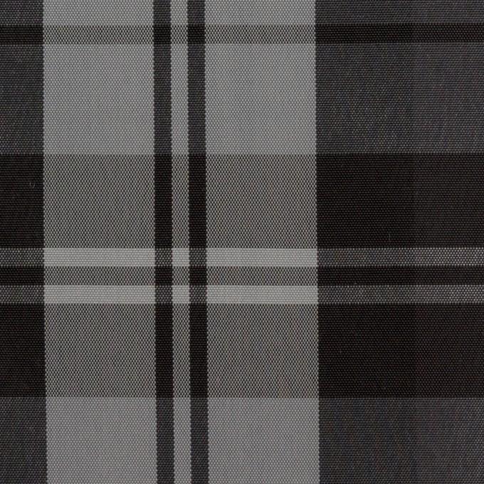 ナイロン&トリアセテート×チェック(シルバーグレー&ブラック)×形状記憶タフタ イメージ1
