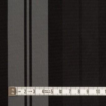 ナイロン&トリアセテート×ストライプ(シルバーグレー&ブラック)×形状記憶タフタ サムネイル4