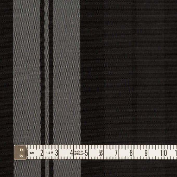 ナイロン&トリアセテート×ストライプ(シルバーグレー&ブラック)×形状記憶タフタ イメージ4