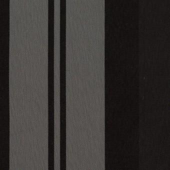 ナイロン&トリアセテート×ストライプ(シルバーグレー&ブラック)×形状記憶タフタ