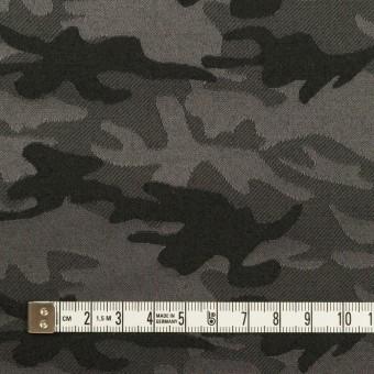 コットン&ポリエステル混×迷彩(チャコールグレー)×サテンジャガード・ストレッチ_全2色 サムネイル4