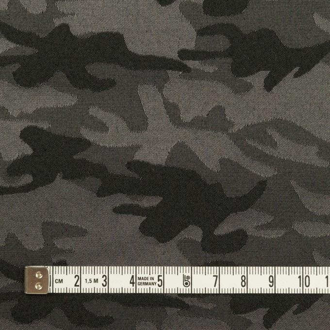 コットン&ポリエステル混×迷彩(チャコールグレー)×サテンジャガード・ストレッチ_全2色 イメージ4