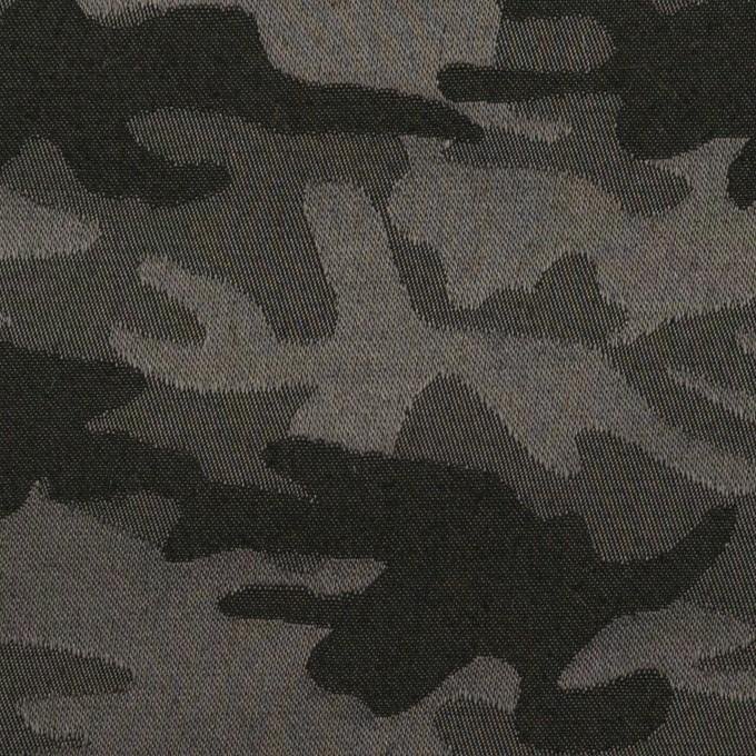 コットン&ポリエステル混×迷彩(チャコールグレー)×サテンジャガード・ストレッチ_全2色 イメージ1