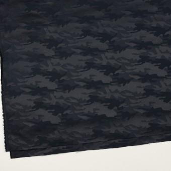 コットン&ポリエステル混×迷彩(ダークネイビー)×サテンジャガード・ストレッチ_全2色 サムネイル2