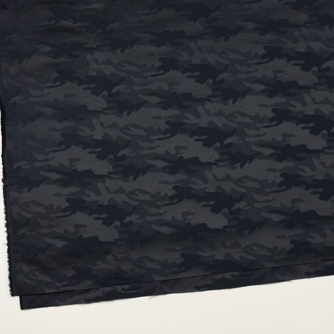 コットン&ポリエステル混×迷彩(ダークネイビー)×サテンジャガード・ストレッチ_全2色 イメージ2