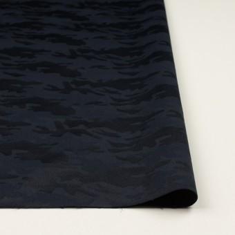 コットン&ポリエステル混×迷彩(ダークネイビー)×サテンジャガード・ストレッチ_全2色 サムネイル3