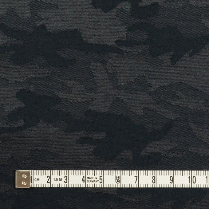 コットン&ポリエステル混×迷彩(ダークネイビー)×サテンジャガード・ストレッチ_全2色 イメージ4