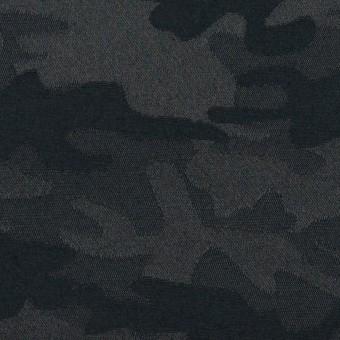 コットン&ポリエステル混×迷彩(ダークネイビー)×サテンジャガード・ストレッチ_全2色 サムネイル1