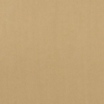 コットン&ポリエステル混×無地(カーキ)×サージストレッチ_全2色