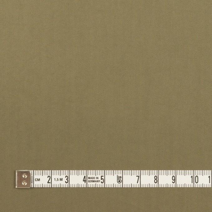 コットン&ポリエステル混×無地(カーキグリーン)×サージストレッチ_全2色 イメージ4