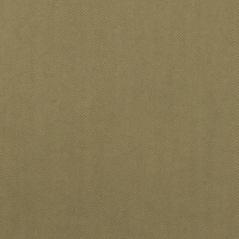 コットン&ポリエステル混×無地(カーキグリーン)×サージストレッチ_全2色