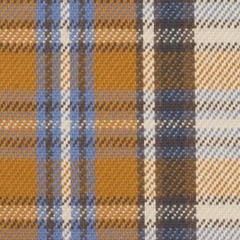 コットン×チェック(アイボリー&キャラメル)×斜子織 サムネイル1